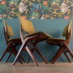 Vintage design stoel Scisser Chair Louis van Teeffelen